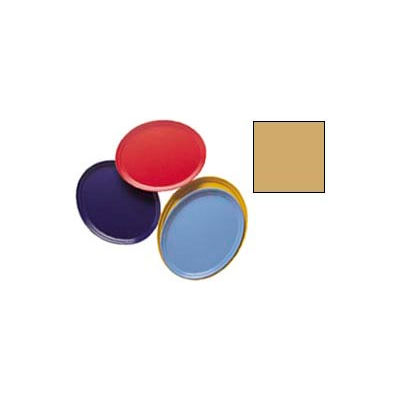 """Cambro 2500514 - Camtray 19"""" x 24"""" Oval,  Earthen Gold - Pkg Qty 6"""