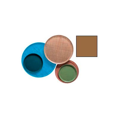 """Cambro 900508 - Camtray 9"""" Round,  Suede Brown - Pkg Qty 12"""