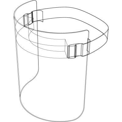"Disposable Full Face Shield Elastic Strap, Foam Cushion, 12""W x 8""H"