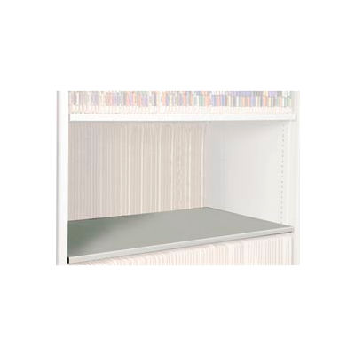 Rotary File Cabinet Components, Legal Depth Flat Shelf, Bone White