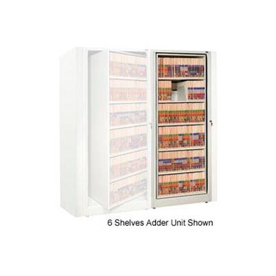 Rotary File Cabinet Adder Unit, Legal, 1 Shelves, Bone White