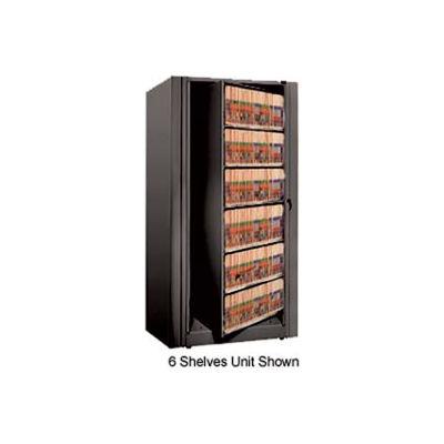 Rotary File Cabinet Starter Unit, Legal, 2 Shelves, Black