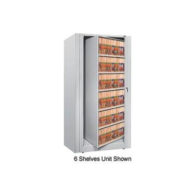 Rotary File Cabinet Starter Unit, Legal, 2 Shelves, Light Gray