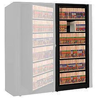 Rotary File Cabinet Adder Unit, Letter, 1 Shelves, Black