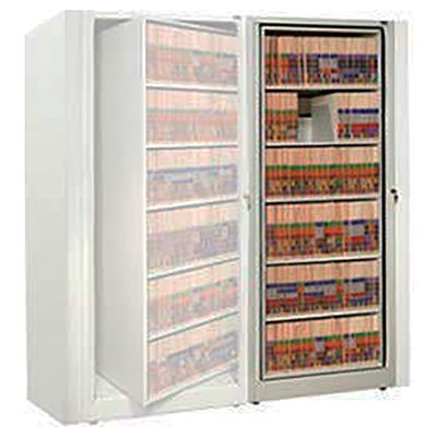 Rotary File Cabinet Adder Unit, Letter, 2 Shelves, Bone White