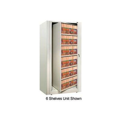 Rotary File Cabinet Starter Unit, Letter, 4 Shelves, Bone White