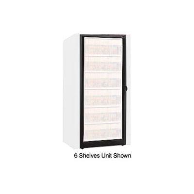 Rotary File Cabinet Components, Base Adder Unit, Letter, 7-High, Black