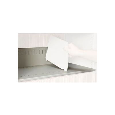 Rotary File Cabinet Components, Slotted Shelf, Letter Depth, Bone White