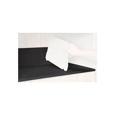 Rotary File Cabinet Components, Slotted Shelf, Letter Depth, Black