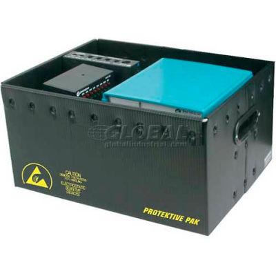 "Protektive Pak 39121 Plastek ESD Storage Container, 19-5/8""L x 16""W x 14-3/16""H - Pkg Qty 5"