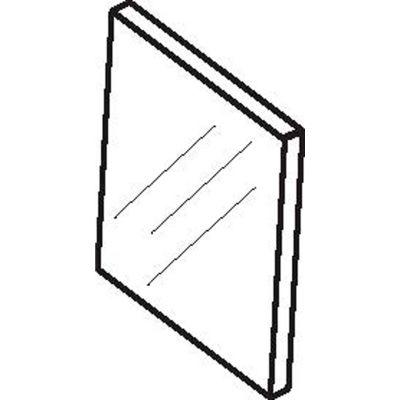 Don Jo WP 34-626 Wall Protector, Satin Chrome - Pkg Qty 100