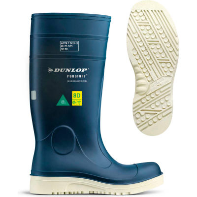 Dunlop® Purofort® Comfort Grip Full Safety Work Boots, Size 9, Blue