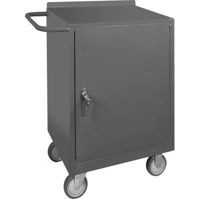 "Durham WBF-48120-95 23""W x 20""D Mobile Bench Cabinet - 1 Shelf 24""W x 18""D x 36-1/2""H - Gray"