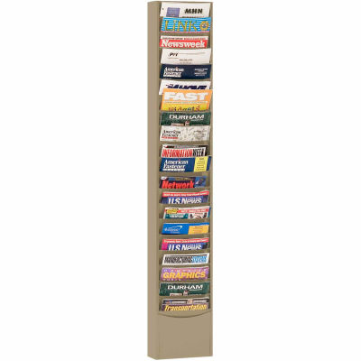 20 Pocket Medical Chart & Special Purpose Literature Rack - Tan