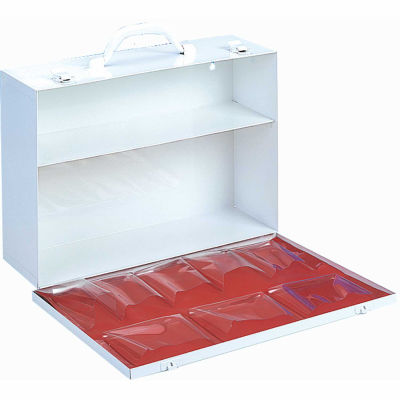 First Aid Cabinet 2-Shelf Fall Down Door - 15-x4-1/2x10-1/4
