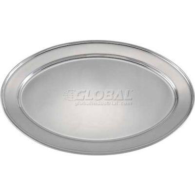 "Winco OPL-20 Oval Platter, 20""L, 13-3/4""W, Stainless Steel, Oval - Pkg Qty 10"