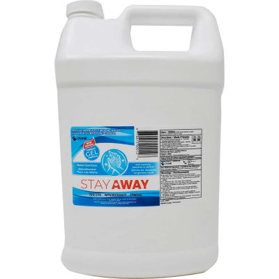 Stay Away Hand Sanitizer Sealed Flat Cap Bottle, 3.78 L, 4 Bottles/Case -DVEL-STYSGC703780ML