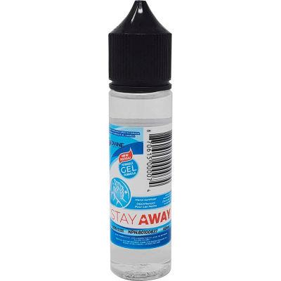 Stay Away Hand Sanitizer Dropper Bottle, 60 ml, 100 Bottles/Case -DVEL-STYSGC7060ML