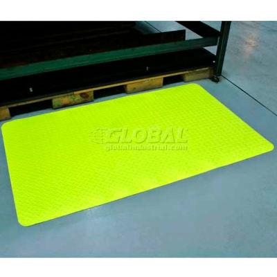 "Durable Corporation Diamond-Dek Sponge Anti Fatigue Mat 9/16"" Thick 2' x 3' Yellow"