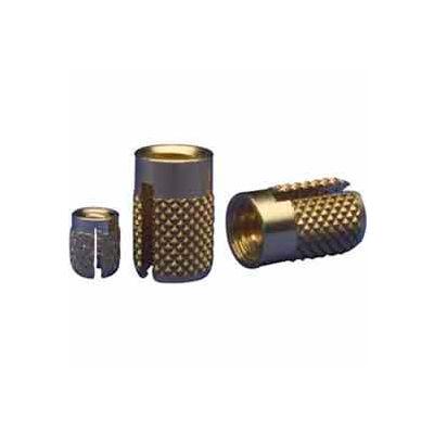 Brass 1//4-20 Reverse Slot Press Insert EZ Lok 260-4-RS Lot of 25