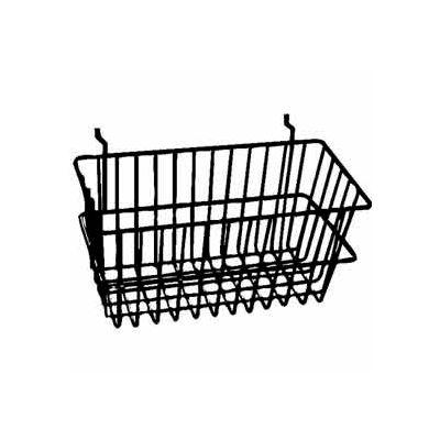 """12""""W X 6""""D X 6""""H Narrow Basket - Semi-Gloss White - Pkg Qty 6"""