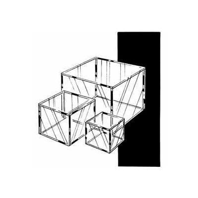 """6""""W X 6""""D X 6"""" H Small Display Cube - Clear - Pkg Qty 12"""