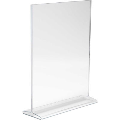 """Econoco, Vertical Top Load Sign Holder, HPCT811VTP, 8-1/2""""W x 11""""H, Clear Acrylic - Pkg Qty 24"""