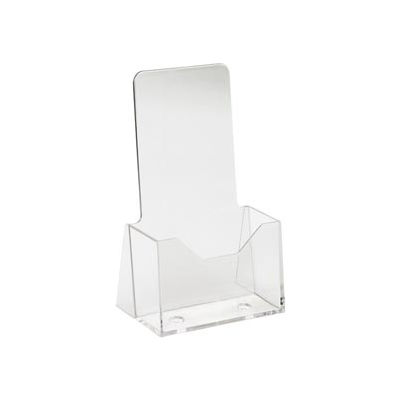 """4""""W X 9""""H Acrylic Countertop Literature Holder - Clear - Pkg Qty 24"""