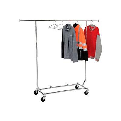 Salesman's Collapsible Portable Clothing Rack RCS/1 - Round Tubing - Chrome