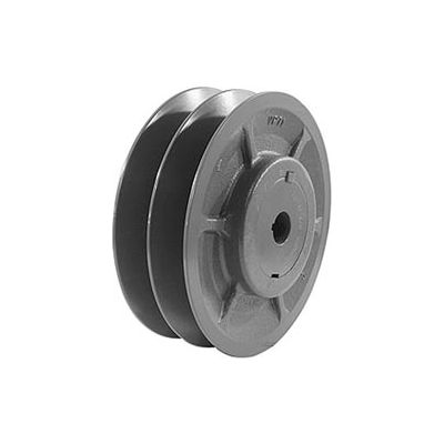 """Double-Groove Variable Pitch Sheave, 1"""" Bore, 5.35"""" O. D., 2VP56X1"""