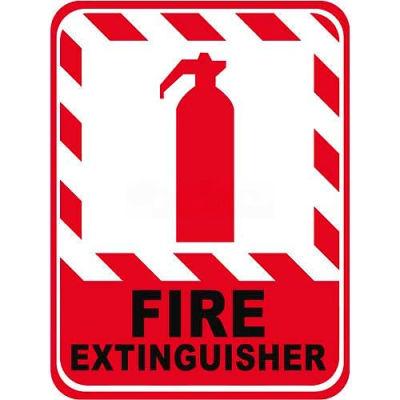 "Durastripe 12""X9"" Vertical Rectangle - Fire Extinguisher"