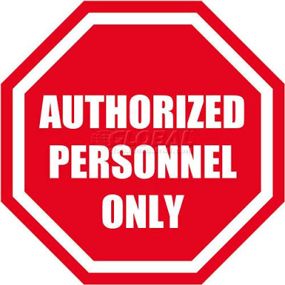 """Durastripe 20"""" Octagone Sign - Authorized Personnel Only"""