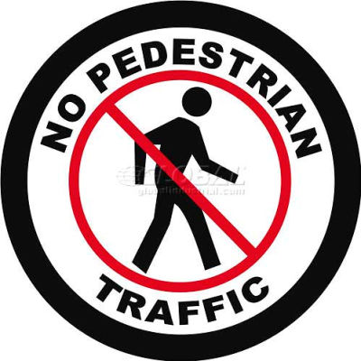 "Durastripe 24"" Round Sign - No Pedestrian Traffic"