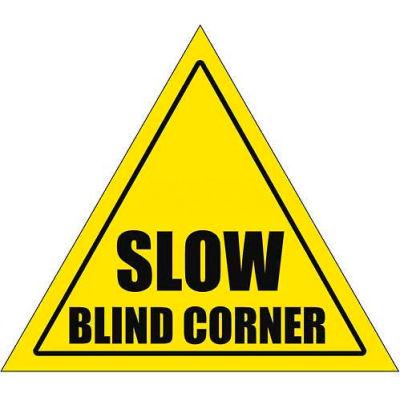 """Durastripe 30"""" Triangular Sign - Caution Slow Blind Corner"""