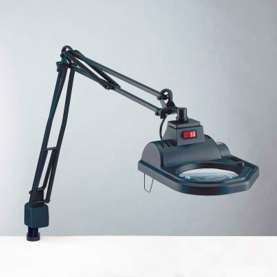 """Electrix 7426-3D 3-Diopter Halogen Magnifier, 45"""" Reach, Clamp-On 120V, 100W"""
