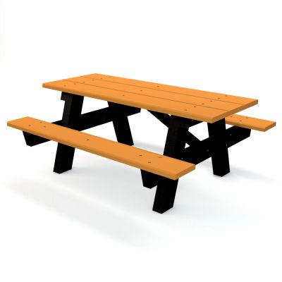 Global Industrial 6 Ft Recycled Plastic A Frame Rectangular Picnic Table Cedar B264186 Globalindustrial Ca