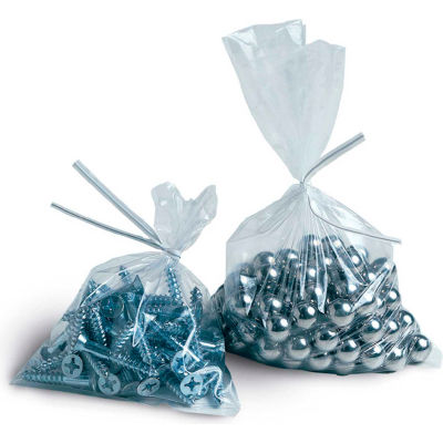 "Layflat Poly Bags, 12""W x 14""L 1 Mil Clear, 1000/CASE"