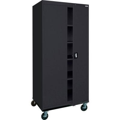 Sandusky Mobile Storage Cabinet TA4R362472 - 36x24x78, Black
