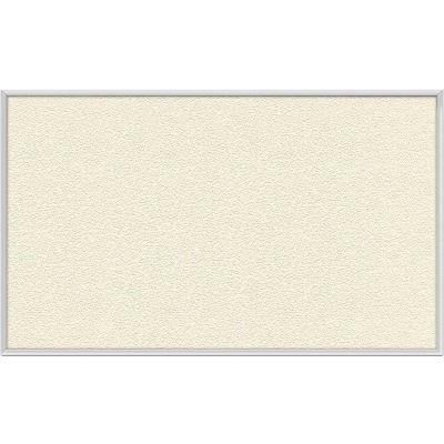 "Ghent Bulletin Board - Vinyl - Aluminum Frame - 46.5""W x 36""H - Ivory"