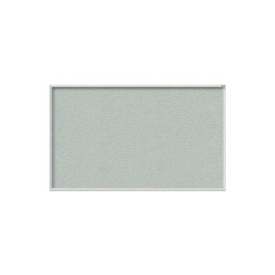 "Ghent Bulletin Board - Vinyl - Aluminum Frame - 46.5""W x 36""H - Silver"