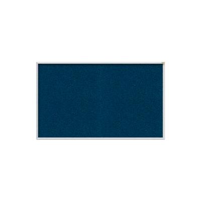 "Ghent Bulletin Board - Vinyl - Aluminum Frame - 46.5""W x 36""H - Navy"