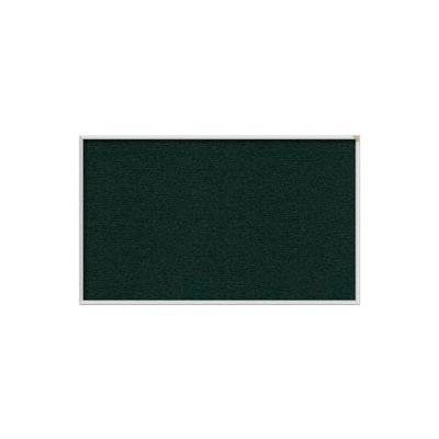Ghent 3' x 5' Bulletin Board - Ebony Vinyl Surface - Silver Frame