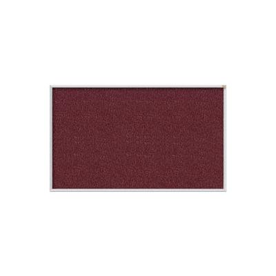 Ghent 3' x 5' Bulletin Board - Berry Vinyl Surface - Silver Frame