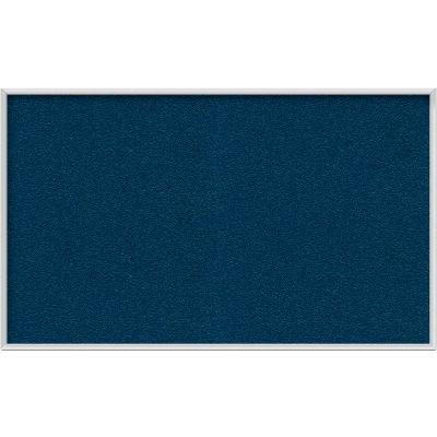 Ghent 3' x 5' Bulletin Board - Navy Vinyl Surface - Silver Frame