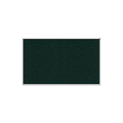 Ghent 4' x 10' Bulletin Board - Ebony Vinyl Surface - Silver Frame