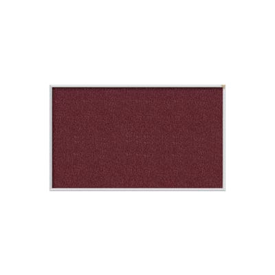 Ghent 4' x 10' Bulletin Board - Berry Vinyl Surface - Silver Frame