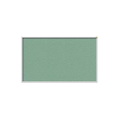 Ghent 4' x 10' Bulletin Board - Mint Vinyl Surface - Silver Frame