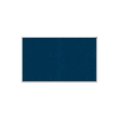 Ghent 4' x 10' Bulletin Board - Navy Vinyl Surface - Silver Frame
