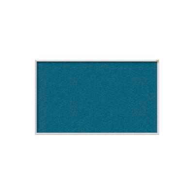 Ghent 4' x 12' Bulletin Board - Ocean Vinyl Surface - Silver Frame