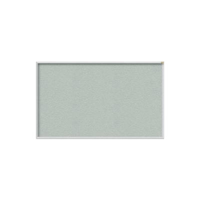 Ghent 4' x 12' Bulletin Board - Silver Vinyl Surface - Silver Frame